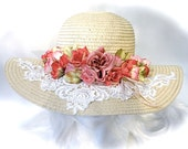 Victorian Derby Hat Dusty Rose Mother of the Bride Tea Party Hats BH107 $68.00 AT vintagedancer.com