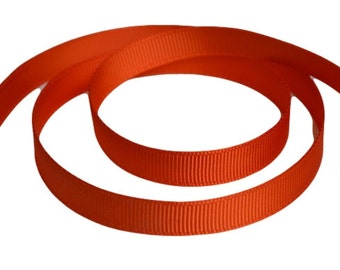 "Autumn Orange Grosgrain Ribbon. 3/8"" Width. Narrow Grosgrain Ribbon. 5 Yards. No. 761"
