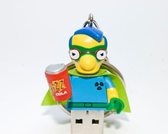 128GB Fallout Boy Milhouse USB Flash Drive with Key Chain