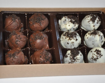 Oreo Truffle Chocolate Candy Balls  Christmas Holiday Candy Gift Box !
