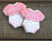 Baby Shower Favors / Baby Shower Party Favors / Baby Girl Shower Favors / Gifts for a New Mom / New Baby Sugar Cookies - 12 cookies