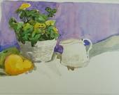 Watercolor Painting-Fine Art-Still Life Art by Diann