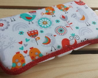 Travel Wipes Case, Baby Wipes Case, Birds Wipes Case
