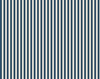 Wilmington Prints - Fall Frolic - Simple Stripes Blue