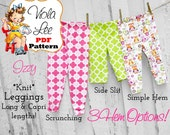 Izzy Baby Leggings Sewing Pattern for KNIT fabrics. Toddler Leggings Pattern. Long & Capri length. Girl's Sewing Pattern. pdf Pants Pattern.