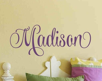 Girls Name Wall Decal Girls Name Decal Nursery Bedroom Bed Room Wall Decor Childrens Kids Room Custom Personalized Monogram Vinyl Lettering