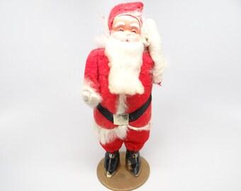 1950's Santa, Vintage Hand Painted Face Santa with Original Box