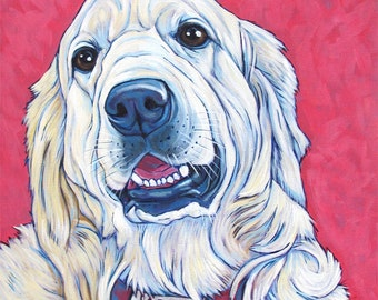 "Custom Pet Portrait Painting in Acrylic on 10"" x 10"" Canvas  of One Dog, Cat, or Other Animal, Gift Certificate available for Christmas Day"