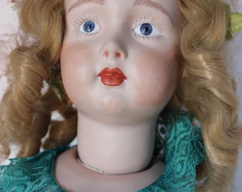 "Antique Repro Artist Large 29"" French/German Child Character Porcelain Doll"