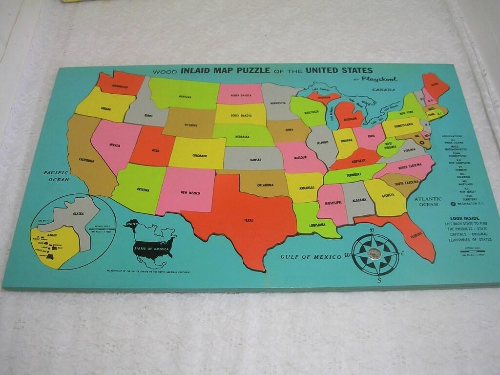 Us Map Quiz Puzzle Jetpunk