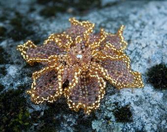 Jewelry - Beaded Handmade Brooch - Flower brooch - Gift woman - KHands