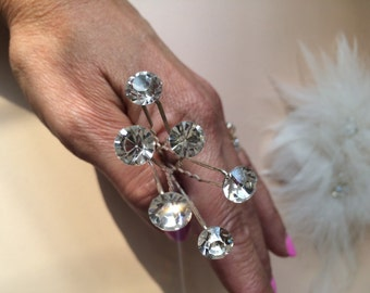 Wedding Hair Pins - Wedding and Bridal Hair Pins, Hair Combs, Veils, Hair ClipsElegant Hair Jewelry, Swarovski Crystal