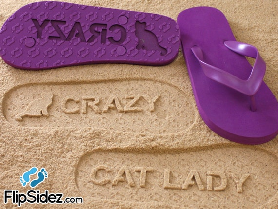 Custom Sand Imprint Flip Flops *Check size chart before ordering*