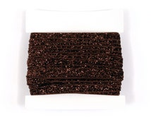Glitter Elastic, stretch 3/8th inch For Glitter Headbands and Hairties- 5 or 10 yards - Brown