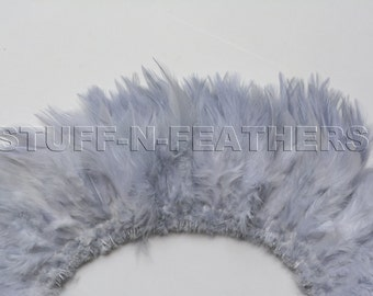 Wholesale/Bulk feathers – Light silver gray with a hint of lavender rooster saddles / 3-4 in (7.5-10 cm) long / 10 in (25 cm) / FB169-3