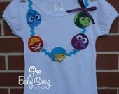 Girls Inside Out Shirt, Joy, Sadness, Fear, Anger, Disgust, Shirt, Pixar, Made to order 12 month, 18 month, 2t, 3t, 4t, 5t, 6, 8
