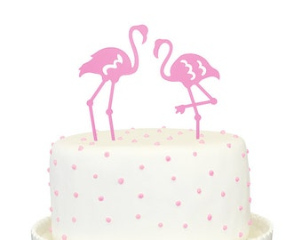 Flamingo Pair Cake Topper
