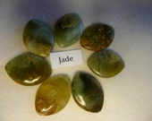Destash Natural Jade Oval Cabochon Large Beads  7 Pieces