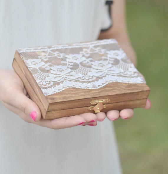 vintage chic ring bearer box personalized ring bearer box