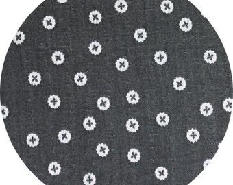Charms - DOUBLE GAUZE - Plus Dots in Grey - Ellen Baker for Kokka - JG-42100-100B - 1/2 Yard