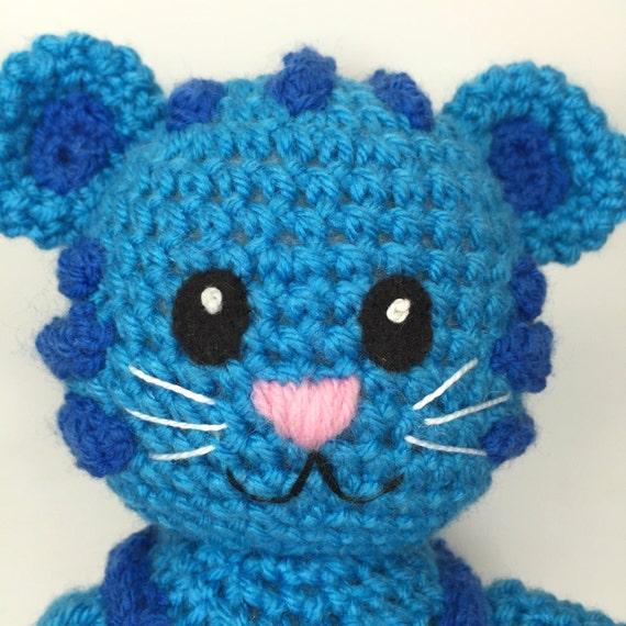 Blue Tiger Crochet Doll Pattern Inspired By Tigey Daniel