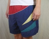Vintage Color Block Swim Trunks/Bathing Suit by Catalina