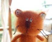 Crochet toy cat mohair amigurumi stuffed animal