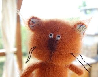 Crochet toy cat mohair amigurumi stuffed animal