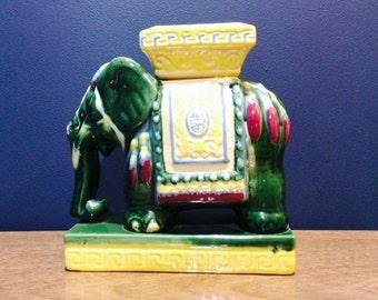 Vintage Asian Elephant Ashtray Planter