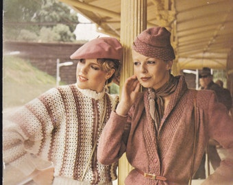 Paton's Knitting Pattern No 586  Ladies Caressa (Vintage 1970s), Jumpers, Sweaters, Cardigans, Jackets
