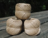 All natural vintage French linen twine or string