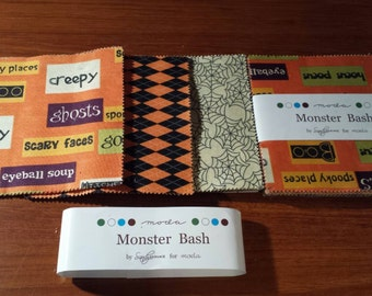 Monster Bash Halloween charm packs. Spooky, Spooky, Spooky! 42 five inch squares.