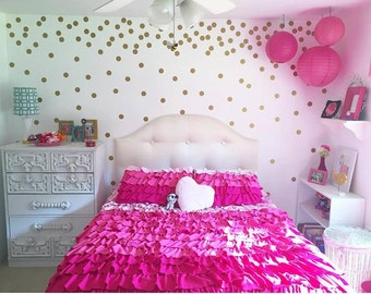 Uu Polka Dots Confetti Wall Circles Circle Wall Decals Girls Room With Girls  Room Decor.