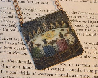 King Arthur necklace Knights of the Round Table jewelry mixed media jewelry