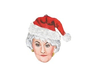 Bea Arthur Dorothy Golden Girls Hand Painted Christmas Ornament