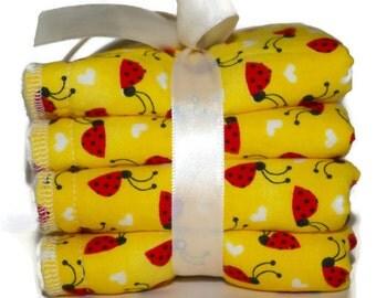 Baby Wash Cloth Set - Baby Bath Set - Ladybug Bath Set - Children's Wash Cloths - Facial Cloths -Kids Wash Rags - Baby Gifts - Baby Girl