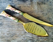 Beautiful Cake Server and Knife - Fairy Tale, upcycled silver plate cake server & Knife
