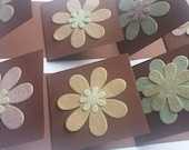 Handmade Notecards - Flower Notecards - Blank Notecards - Brown Notecards