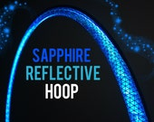 """Sapphire Reflective HDPE or Polypro 5/8"""" 3/4"""" Dance & Exercise Hula Hoop - NOT an LED hoop blue"""