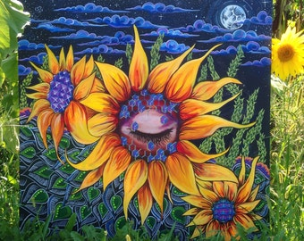 RESTING SUNFLOWER Print