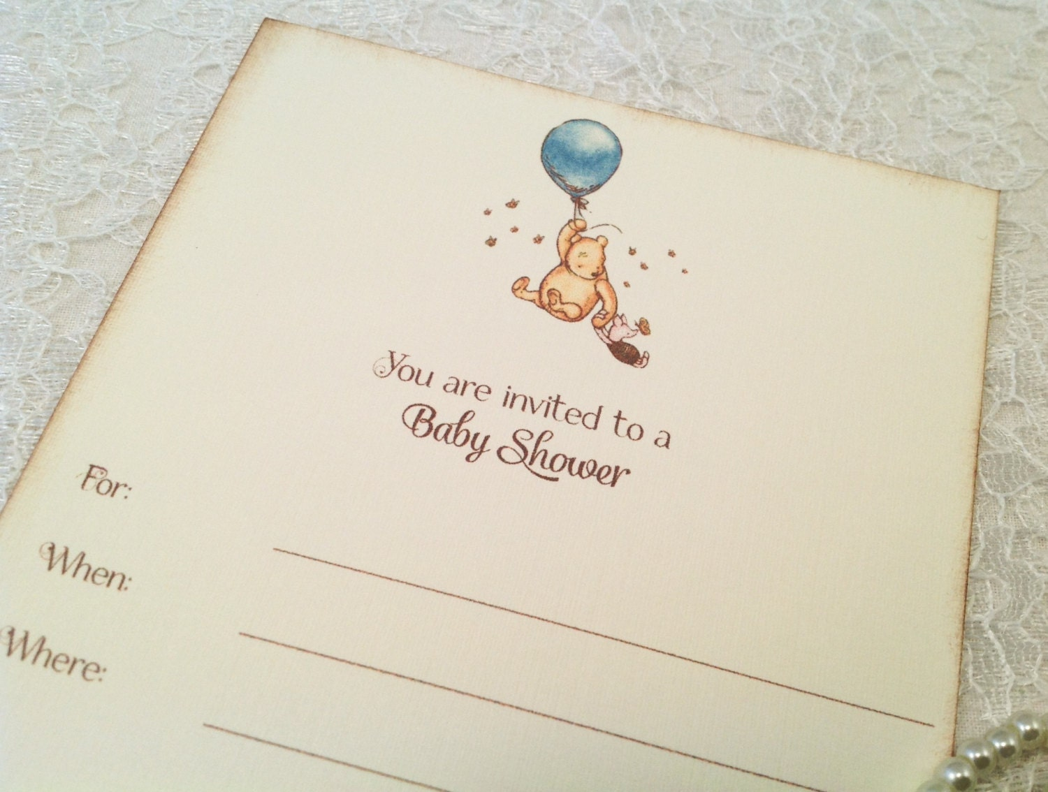 fill in blank baby shower invitations pooh balloon baby shower