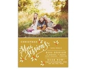 INSTANT DOWNLOAD - Christmas Mini Session template - Photoshop template - E1154