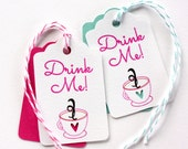 6 Tea Party Thank You Favor Tags. Tea for Two. Drink Me Tags. Bridal Shower Favor Tags. Wedding Shower Tea Party Favors. Tea Cup Thank You