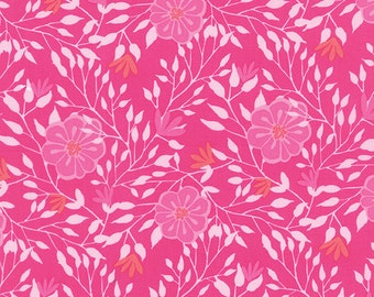 Sale - Paradiso Hibiscus Pink by Kate Spain for Moda - One Yard - 27202 11