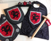 Dragon Knight Costume Gift Set BLACK and RED - Super Hero Costume - Halloween Costume - Kid Costume