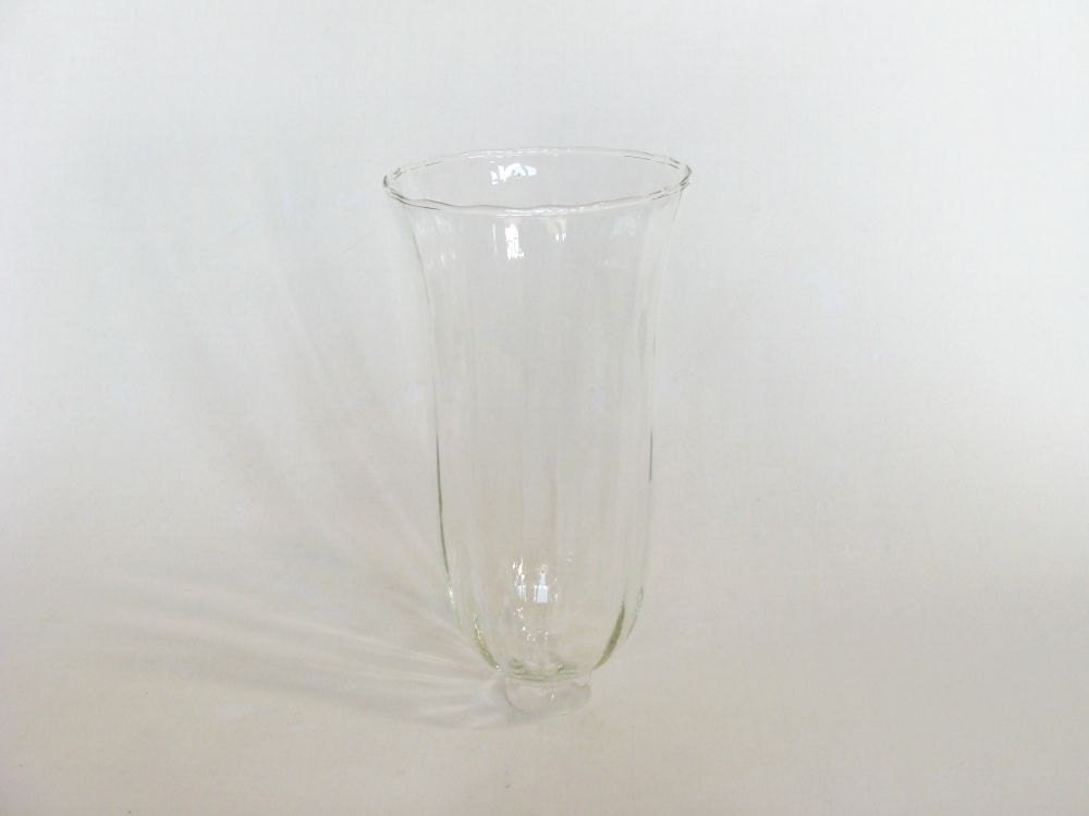 Clear Glass Hurricane Lamp Shade Candle by browneyeddaisy