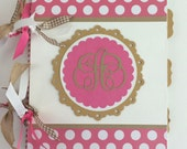 Monogram Journal Lined Notebook Personalized Writing Journal