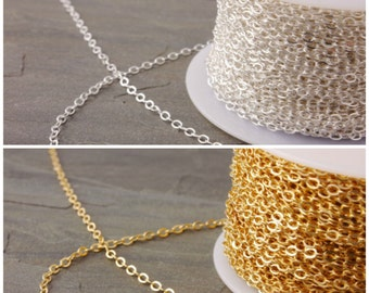 Chain Extension, make your necklace longer, chain extender, longer chain, extra chain length, sterling silver, 14k gold filled