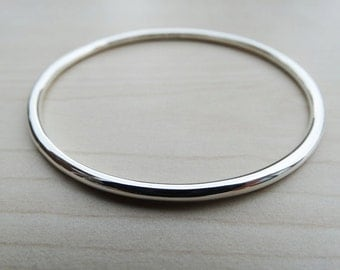 Solid Silver Bangle - Sterling Silver