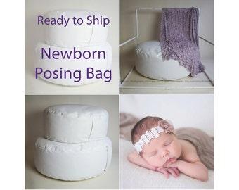 Newborn Posing Bean Bag -  READY TO SHIP - Bean Bag for Newborn Photography Posing